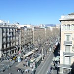 view of la ramblas from the hotel