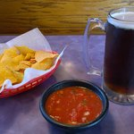 Chips, salsa and beer