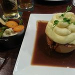 Yorkshire Beef Pie with Smooth Mash & Vegetables