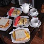 Breakfast at Kaluku bungalow
