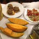 Excellent melon and pate