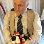 Kind of creepy old-man wax figure.  We gave him some Puffins.