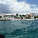 A shot of the resort while Kayaking.