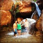 Sideways waterfall on Clear Creek