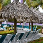 Lounge chairs by the beach
