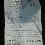 Grigliata 144 euro.....