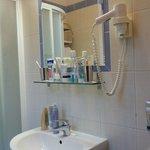 Enda avställningsytan i toalett/dusch rum