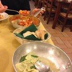 Ravioli spinaci e ricotta al burro e salvia, gnocchi con castrato...