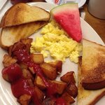 2eggs, home fries, & toast