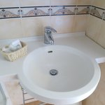 Sink area of bathroom (room #16)