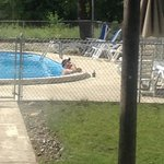 Relaxing at the pool