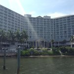 View of the hotel from the fishing pier