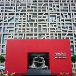 Detakhe da fachada do hotel