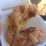 Sausage egg and cheese croissant made to order.