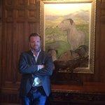 The Irish Wolfhound art adorning the walls