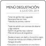 Menu degustación 6-Julio-2014
