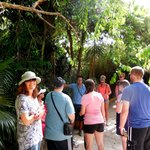 With tour guide Jorge & our group at the entrance to Tulum