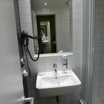 sink and wall mounted hairdryer