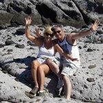 on the lava rocks below hotel...