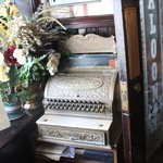 Antique cash register.