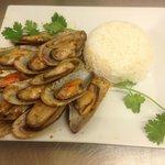Moules Basillic Thaï et son riz thaï parfumé au Jasmin