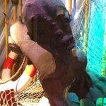 Fake mermaid exhibit