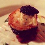 King scallop with caviar in Vicoletto