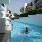 chambres avec piscine commune
