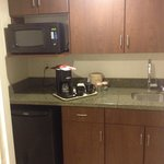 Kitchenette in the king suite room they upgraded us to.