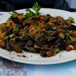 Pelecanos Restaurant - Eggplant entree