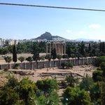Templo de Zeus visto do Hotel
