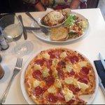 Lasagna and Hawai pizza