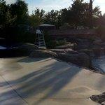 Panoramique de la piscine quartier jardins