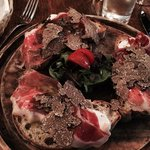 Ham-truffle starter