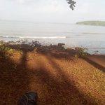 Beach from the Bambolim Beach Resort
