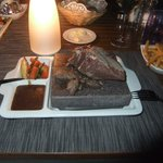 steak at the Hot Rock