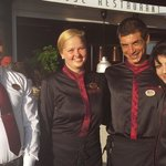 Raj, Sophia, Kirri and Anthea who'll look after you in the Japanese Restaurant