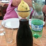 Red wine with lemon stopper