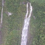 View of a waterfall during the helicopter tour.