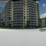 Pano from the beach of the building