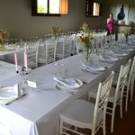 Living room set out for wedding breakfast