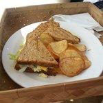 Private beach - lunch