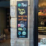 cool blackboards & ethical coffee :)