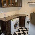 キッチンにある洗濯機