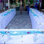 Tables decorated beautifully