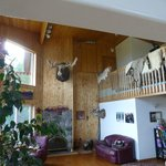 Fireplace and living room area - (ask Maria about the moose head)