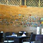 Indigo fish wall