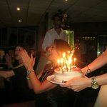 The whole restaurant sang happy birthday. Fab atmosphere