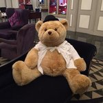 a special visitor awaited us in the foyer! Bob the bear.