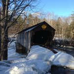 Covered bridge right down the road for photo opps